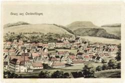 Postkarte: Ansicht Onstmettingen um 1910