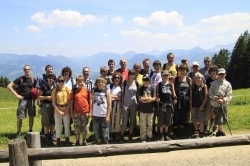 Wandergruppe im Gunzesrieder Tal im Juni 2010