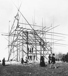 Raichberg-Turm Bau am 6. Mai 1928